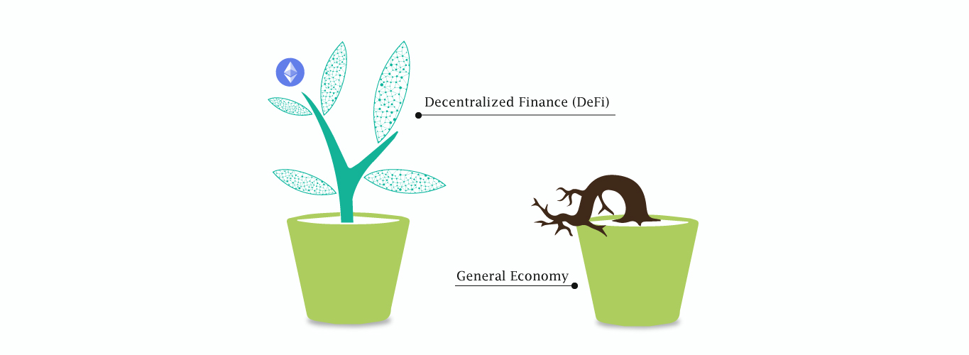 How Decentralized Finance (DeFi) is augmenting when the general economy is in a Depression?